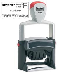 Trodat Professional TVC5460 Bespoke Line Dater Stamp Self-Inking 4mm Date 55x32mm Text Area Ref 156326