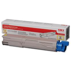 OKI 2.5K Yellow Microfine Laser Toner for C3450/C3600/C3300n/C3400n Ref 43459329
