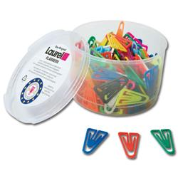 Laurel Plastic Paperclips 25mm Assorted Colours Ref 126011399 - Pack 500