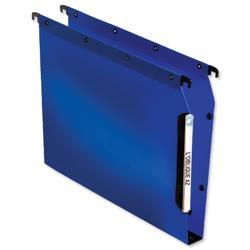 Elba Ultimate Polypro Lateral File Polypropylene 330mm 30mm Base Foolscap Blue Ref 100330584 [Pack 25]