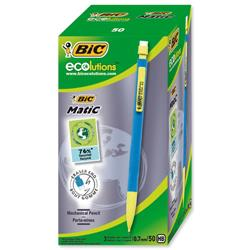 Bic Matic Ecolution Mechanical Pencil with 3 x HB 0.7mm Lead Ref 8877191 - Pack 50