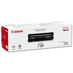 Canon CRG-726 Laser Toner Cartridge Page Life 2100pp Black Ref 3483B002AA