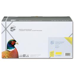 5 Star Office Remanufactured Laser Toner Cartridge 1000pp Yellow [Samsung CLT-Y4072S Alternative]