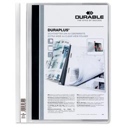 Durable Duraplus Quotation Filing Folder PVC with Clear Title Pocket A4 White Ref 2579/02 [Pack 25]