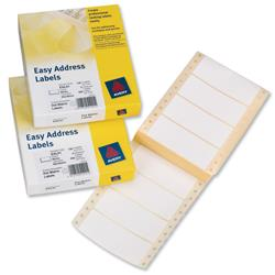 Avery Easy Address Labels  89x37mm Ref EAL01 - Pack 500