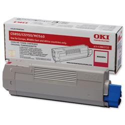 OKI Magenta Laser Toner Cartridge for C5850/C5950 Ref 43865722