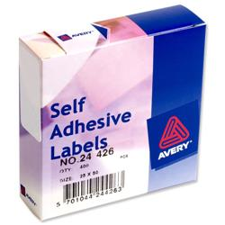 Avery 24-426 Label Dispenser 25x50mm White Ref 24-426 - 400 Labels