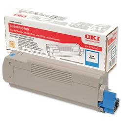 OKI Cyan Laser Toner Cartridge for C5550 MFP/C5800/C5900 Ref 43324423
