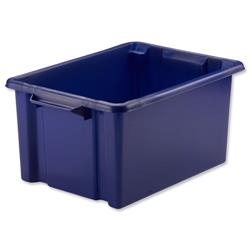 Strata Maxi Storemaster Crate 470x340x240mm Blue Ref HW046