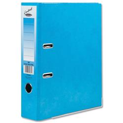 Concord Contrast Lever Arch File Laminated Capacity 65mm A4 Sky Blue Ref 214700 - Pack 10
