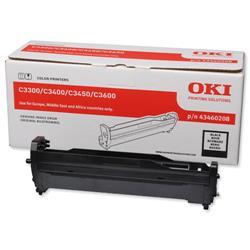 OKI Black Laser Image Drum Unit for C3300/C3400 Colour Printers Ref 43460208