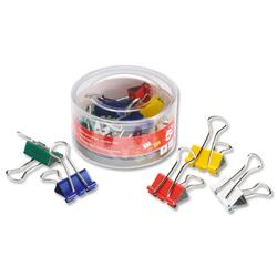 5 Star Office Foldback Clips 19mm Assorted [Pack 12]