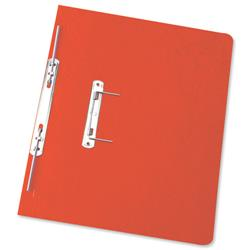Elba Boston Spiral Transfer Spring File 320gsm Foolscap Red Ref 100090038 [Pack 25]