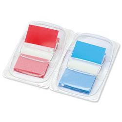 5 Star Office Index Flags 50 per Pack 25mm Red and Blue [Pack 2]