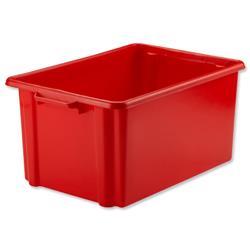 Strata Jumbo Storemaster Crate 560x385x280mm Red Ref HW048