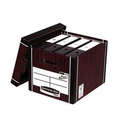 Bankers Box by Fellowes Premium 726 Archive Storage Box Woodgrain Ref 7260502 [Pack 10]