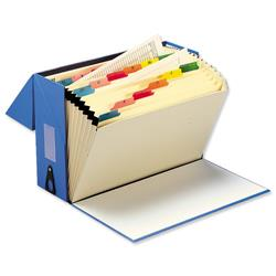 5 Star Office Expanding Box File 20 Pockets A-Z Foolscap W374xD134xH253mm Blue