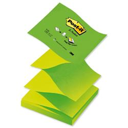Post-it Z-Notes 76x76mm Neon Green Ref R330NAG