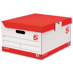 5 Star Office Storage Trunk Red & White [Pack 10]