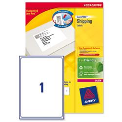 Avery L7167 Laser Printer Labels 199.6x289.1mm Ref L7167-40 - Pack 40