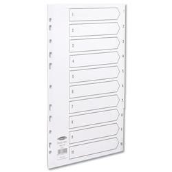 Concord A4 1-10 Europunched White Polypropylene Indexes Ref 64101