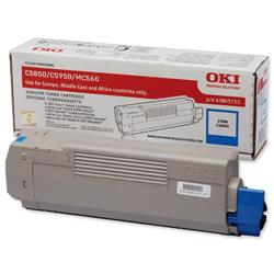OKI Cyan Laser Toner Cartridge for C5850/C5950 Ref 43865723
