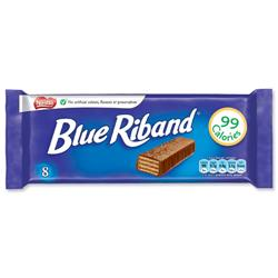 Nestle Blue Riband Milk Chocolate Covered Biscuits Individually Wrapped Ref 12232566 [Pack 8]