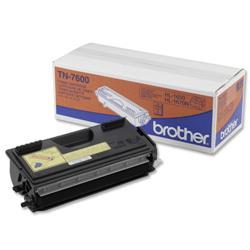 Brother TN7600 Black Laser Toner Cartridge for HL1650 1670N Ref TN-7600
