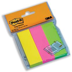 3M Post-It Note Markers 100 per Pack Neon Yellow Pink and Lime Green Ref 6713 - Pack 3