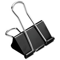 5 Star Office Foldback Clips 51mm Black [Pack 12]