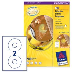 Avery L6043 Classic CD Laser Labels 117mm Diameter Ref L6043-100 - Pack 200