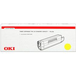 OKI Yellow 3k Toner Cartridge for C5200/C5400 Ref 42804505