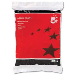 5 Star Office Rubber Bands No.18 Each 76x1.5mm Approx 1600 Bands [Bag 0.454kg]