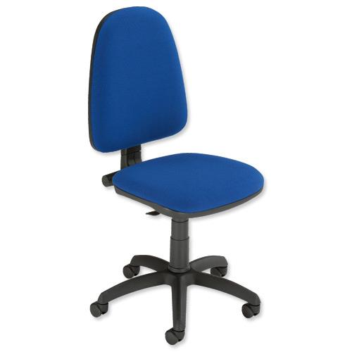Trexus Office Operator Chair Permanent Contact High Back H500mm W460xD430xH460-580mm Blue