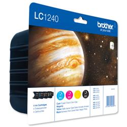 Brother Inkjet Cartridge Value Pack Page Life 2400pp Black/Cyan/Magenta/Yellow Ref LC1240VALBP - Pack 4