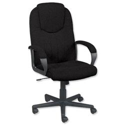 Trexus Intro Managers Armchair High Back 690mm Seat W520xD470xH440-540mm Charcoal