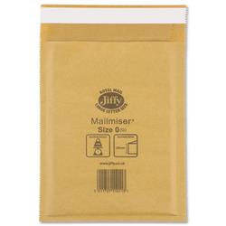 Jiffy Mailmiser No.0 Gold Bubble-lined Protective Envelopes 140x195mm Ref JMM-GO-0 - Pack 100