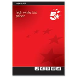 5 Star Elite Business Paper Prestige Laid Finish Ream-Wrapped 100gsm A4 High White [500 Sheets]