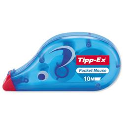 Tipp-Ex Pocket Mouse Correction Tape Roller Disposable 4.2mmx9m Ref 8207891 - Pack 10