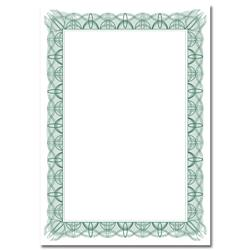 Certificate Papers with Foil Seals 90gsm A4 Green Wave [Pack 30]