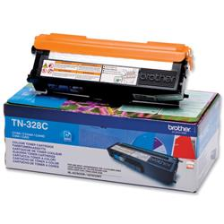 Brother TN-328C Cyan Laser Toner Cartridge Ref TN328C
