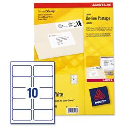 Avery L5103 Smartstamp Laser Logo Labels Predesigned 135x38mm 10 per Sheet Ref L5103-40 - Box 400 Labels