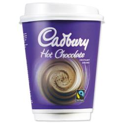 Cadbury Instant Hot Chocolate Drink in a 12oz (340ml) Cup Ref 4032336 [Pack 8]