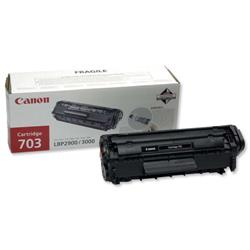 Canon CRG-703 Black Laser Toner Cartridge For LaserShot LBP 2900 and 3000 Printers Ref 7616A005AA