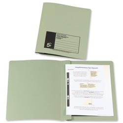 5 Star Office Flat File Recycled Manilla 285gsm 38mm Foolscap Green [Pack 50]