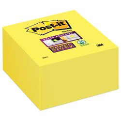 3M Post-It Super Sticky Notes Yellow Cube 3x3 inches Ref 2028-S