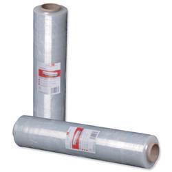 Stretch film roll 400mmx300m 17 micron Clear [Pack 2]