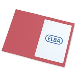 Elba Square Cut Folder Recycled Heavyweight 290gsm Foolscap Red Ref 100090222 [Pack 100]