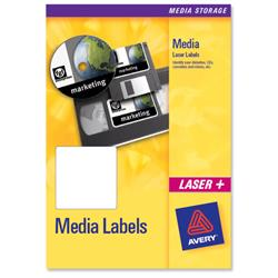Avery L7666 3.5 inch Disk Laser Media Label 70x52mm 10 label sheets Ref L7666-25 - 25 sheets