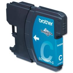 Brother LC1100HYC High Yield Cyan Inkjet Cartridge Ref LC1100HYC